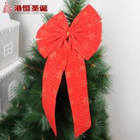 accessories hong kong - Hong Kong Hang Christmas decoration accessories CM red flocking cloth bow pendant g treetop