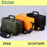 Wholesale colors plastic tool box waterproof tool case IP68 security seal pistol case instrument case mm