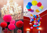 baptism supplies - Tissue Paper Pom Poms Flowers Mix Color Flower Balls Wedding SuppliesBlooming Flower Balls Wedding Party Baptism Decoration Xmas Home Decor