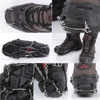 Multisport anti skid shoe covers - Anti skid Ice Crampons Gripper Anti Slip Snow Shoes Boot Chain Covers Outdoor Winter Climbing os112