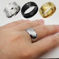 Wholesale 8mm Gold Plated Fashion Superhero Rings Tungsten Carbide Ring Jewelry Tungsten Electroplate Superman Wedding Ring Colors Drop Shipping