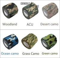 bicycle guns - Roll Telescopic Camo Stretch Bandage Camping Hunting Camouflage Tape for Gun Cloths Camera Flashlight Bicycle Motorbike m