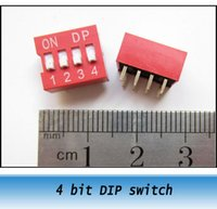 Wholesale Red Gold plated bit dial switch toggle switch DIP flat pull DIP SWITCH space of mm