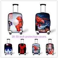 apply protective covers - New Arrival D Baymax Print Cartoon Luggage Protective Case Travel Luggage Suitcase Cover Waterproof Apply to Inch
