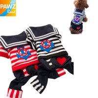 Wholesale Freeshipping Navy Style Handsome Pants Outfit Pet Clothes Navy Dog Clothes Fashional Design