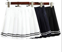 aa bust - New Arrivals Women s AA style Pleated Bust Skirt Mini High waist vintage tennis skirts black and white cute short skirts S M L