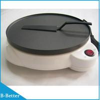Wholesale Piece by Post Pancake Machine Electric Baking Pan Non Stick Coating EU Plug Pizza Pancake Crepe Maker