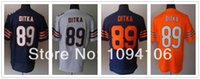 authentic navy - Factory Outlet Cheap Mike Ditka Orange White Navy Blue Elite New Brand Throwback Embroidery Logo Authentic Football Jerseys