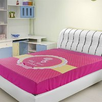 Cheap Wholesale-Girls Adults Printed Bedspread Bed Sheets Bed Cover Fitted Sheet Mattress Covers King Queen Full Twin Size