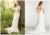 Wholesale 2015 Vintage Bohemia Lace A Line Wedding Dresses Scoop Short Sleeve Bridal Dresses Chapel High Quality Court Train Custom White Backless