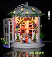 dollhouse miniature - DIY Dollhouse Valentine Love Dating With Furniture Set Kids Educational Assembly Miniature House Toy