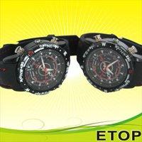 Wholesale 4GB GB cheap factory waterproof watch camera silicon belt sport wearable watch dv waterproof watch camcorder