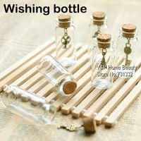Cheap 10 pcs Lot glass bottles with corks wishing bottle Vintage Eiffel Key Novelty households Home Decorative items Novelty gift 8727