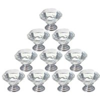 Cheap New 2015 Zinc alloy clear glass crystal cabinet drawer door pulls knobs handlec
