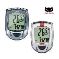 Wholesale CATEYE Micro Wireless Computer CC MC100W MTB Mountain Road Bike Bicycle Cycling Speedometer Backlight Cat Eye CC MC100W