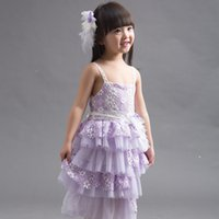 arrival communications - 2015 New Arrival Flower Girls Dress Fashion Lace Girls Princess Children Communication Dress For Party Fit Age SS220