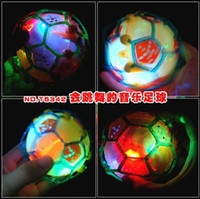 Wholesale OP Flashing Crazy Football With Music Electronic Dancing Ball Toy For Baby Novelty Promotional Gift
