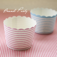 baked band - Cake Mould Cupcake Tool Mini Muffin Baking Cups Blue and Pink Bands Cupcake Wrapper Cupcake Liners Greaseproof Paper Cases
