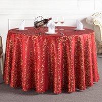 achat en gros de wholesales textiles-En gros Nappe Lacework Nappe Ronde Europe et Amérique du style Imprimé Home Textile Table Cloth Cover JM0123 kevinstyle