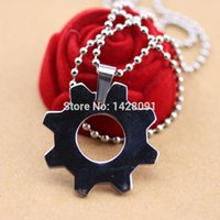 animal replicas - Gears of War Distressed Metal Replica Cog Tags Necklace Stainless Steel necklaces pendants