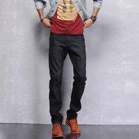 Wholesale 2014 New Arrival Men Jeans Slim Trousers Simple Straight Men Jeans MKN232