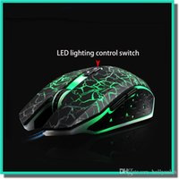 Wholesale usb mouse X8 optical mouse with retail box and colorful back light mouse gamer for e sports for and retail