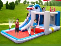 Wholesale EN71 inflatable cartoon hot sale inflatable bounce castle bounce and slide combo