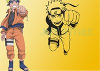 Wholesale Anime Cartoon Naruto Run Attack Cool Propile Wall Sticker Decal Home Decor For Anime Fans