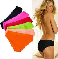 Wholesale 2016 fashion briefs short women pink seamless panties DuPont Ultra thin Cozy Women Underwear Briefs COLOR M Individual package