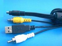 Wholesale USB AV Cables for Nikon UC E6 Coolpix Usb Av Able For Nikon CoolPix L1 L2 L3 L4 L5 L6 USB AV Cable