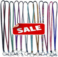 bling lanyards - Bling Lanyard Rhinestone leather Neck Strap rope ID Neck Strap Lanyard ID Pass Card Badge Keyring cell Phone camera Holder Straps necklace