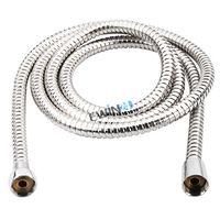 Wholesale 2m Flexible Stainless Steel Chrome Standard Hose Shower Head Bathroom Hose Water Hoses New Brand Popular