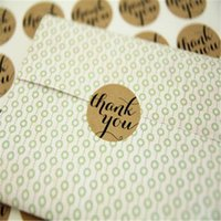 Wholesale 12pcs quot Thank You quot Craft Packaging Seals Kraft Sticker Labels Wedding Favours Toppers