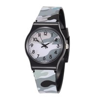lovers' analog supply - Supply the new when the Wauke quartz watch plastic watch PVC watch couple table camouflage watch