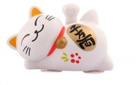 beckoning cat - Solar Powered quot quot Maneki Neko Welcoming Lucky Beckoning Fortune Cat Home Decor Gift A Style