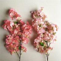 best cake decorations - Best Selling Artificial Flowers Simulation Sakura Oriental Cherry Wedding Decorations Plant Bouquet Room Office Garden Bridal Accessories