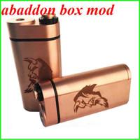 Date Abaddon Box Mod Double 18650 Rouge Cuivre batterie Mod mécanique PK non réglementée Nemesis Nookie loup marteau Castigador boîte de l'osmium mod