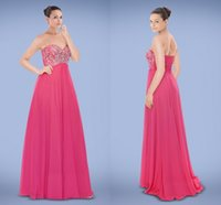 beaded motif - Impressive Sweetheart Empire Chiffon A Line Evening Gowns Accented with Beaded Motifs Zipper Floor Length Prom Dresses X2042