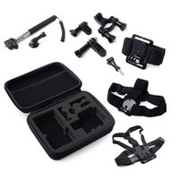 bag combos - 7 in Outdoor Travel Combo Accessories Set Kit With Carry Bag For GoPro Hero Xiaomi Yi Camera SJ4000 SJ5000 SJcam Camera Storage Collection
