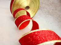 Wholesale 5 cm Red Christmas decoration necessary high grade color ribbon for Christmas Ribbon Christmas gifts