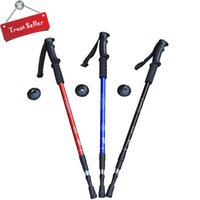 Wholesale Best Outdoor Adjustable Telescopic Trekking Pole Hiking Walking Stick Pole quot to quot aluminum alloy