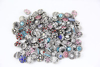 Wholesale mix styles colors interchangeable ginger snap button charm mm small button snap jewelry