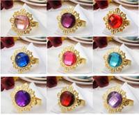 Cheap colours Gem Napkin Ring Best Wedding Bridal Shower Favor
