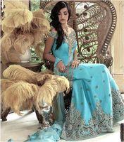 arab style dress - Luxurious Arab Style Wedding Dresses Sweep Train Off Shoulder Sleeveless Bridal Dresses Custom made Crystal Beading Formal Wedding Gowns