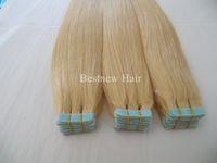 Cheap Cheap Indian Hair Remy Seamless Skin Weft Blue Tape Human Hair Extensions 100G 40PCS Grade 7A