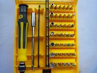 Wholesale 45 in Professional Hardware Screw Driver Tool Kit JK A For Mobile phone tablet pc interchangeable precise manual tool set