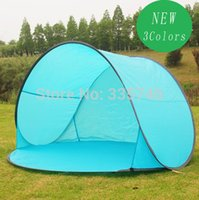 Wholesale pieces New Automatic Pop Up Person Beach Tents Outdoor Camping Tourism Folding Awnings Fishing Tent Sun Shelter