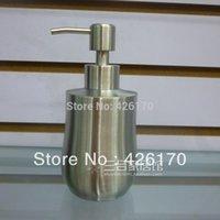 Wholesale Freeshipping ml Soap Dispenser Stainless Steel Kitchen Sink Soap Bottle Refillable Container Shampoo Dispenser