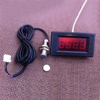 Wholesale Digital Red LED Tachometer RPM Speed Meter Hall Proximity Switch Sensor