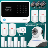 Wholesale 2 G WiFi Network GSM GPRS SMS OLED Home Alarm System Security Kit HD IP Camera